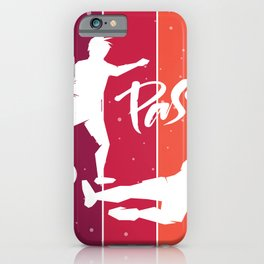 Passion - Football - Color Strips iPhone Case