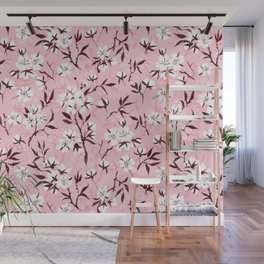 White cherry blossom  Wall Mural