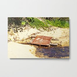 Rustic temporary bridge Metal Print
