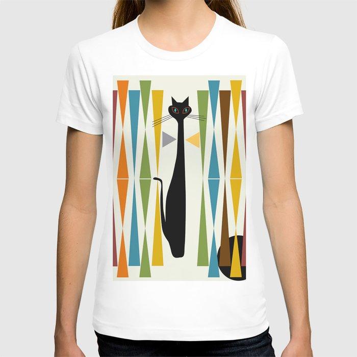 Mid-Century Modern Art Cat 2 T-shirt