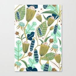 Folk Florals Canvas Print