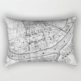 Vintage Map of Cincinnati Ohio (1838) BW Rectangular Pillow