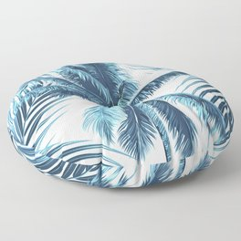 South Pacific palms II - oceanic Floor Pillow