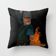 the sorcerer Throw Pillow