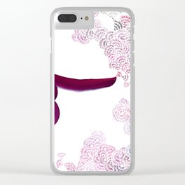 Breath Portrait Magents Clear iPhone Case