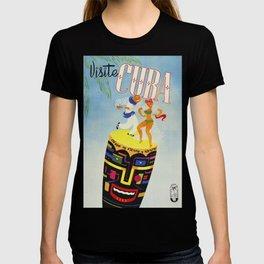 Visit Cuba - Vintage Caribbean Travel Poster T-shirt