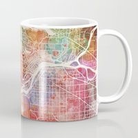 vancouver Mugs featuring Vancouver map by Map Map Maps