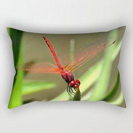 Beautiful Firecracker Dragonfly Rectangular Pillow
