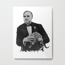The Godfather with a cat  Metal Print
