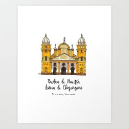 Basilica de Nuestra Senora de Chiquinquira Art Print