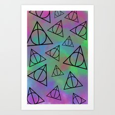 Deathly Hallows  Art Print