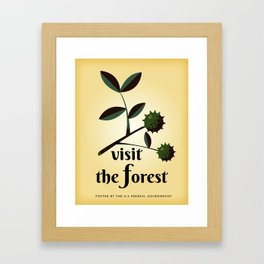 Visit The Forest Government poster Framed Art Print