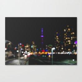 City's a Blur Canvas Print