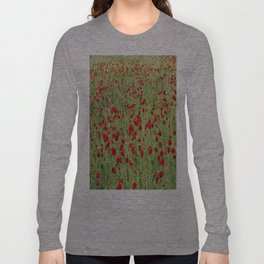A Pasture Of Red Poppies and Remembrance Long Sleeve T-shirt