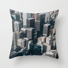Skyscrapers of Toronto Throw Pillow