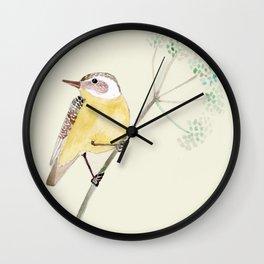 Yellow bird 2 Wall Clock