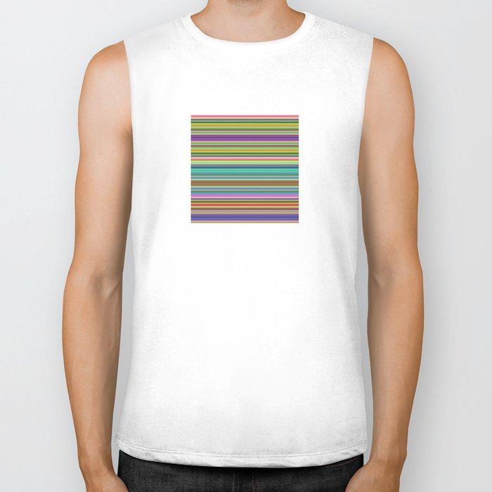 Summer Stripes – Clock 2 - Living Hell Biker Tank