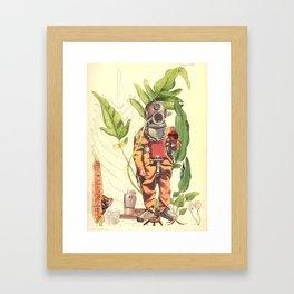 Part 42 Deep sea Sacred Heart Diver Framed Art Print