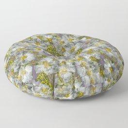 CISTUS LAURIFOLIUS  ROCK ROSE FLOWERS Floor Pillow
