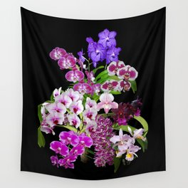Orchids - Cool colors! Wall Tapestry