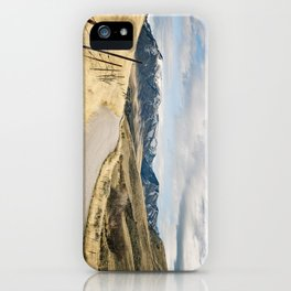 The Road to Snowy Mountains iPhone Case