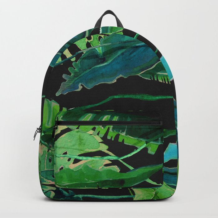 tropical nature compilation at nigth Backpack