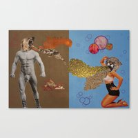 fierce Canvas Prints featuring Fierce by Moistgnome