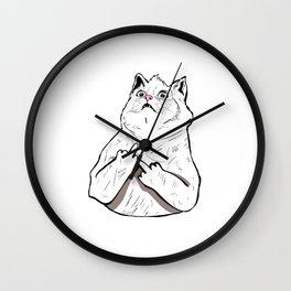 Fluff Off Wall Clock