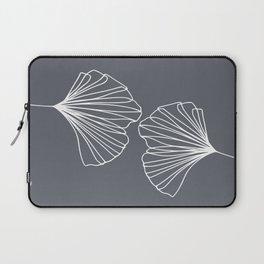Ginkgo Leaves Grey Laptop Sleeve