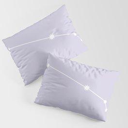 Aries Zodiac Constellation - Lavender Pillow Sham
