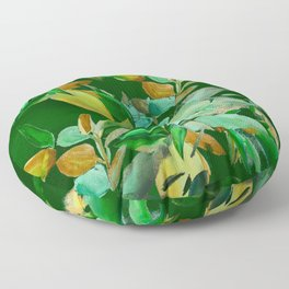 Evening Leaves Floor Pillow