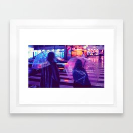Tokyo Nights / The Crossing / Liam Wong Framed Art Print