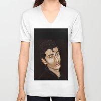 alex turner V-neck T-shirts featuring Alex Turner by Alfonso Aranda
