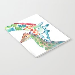 Mummy and Baby Giraffe College Dorm Decor Notebook