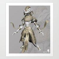 sci fi Art Prints featuring sci-fi by guru8