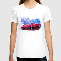 ferrari T-shirts featuring Ferrari Enzo by JT Digital Art