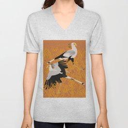 Secretary bird Unisex V-Neck