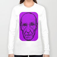 literature Long Sleeve T-shirts featuring Outlaws of Literature (William S. Burroughs) by Silvio Ledbetter