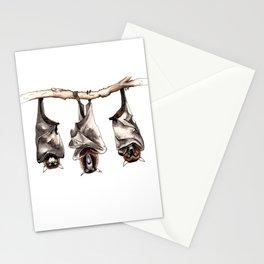 Three Bats Stationery Cards