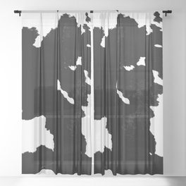 skins #1 Cow Sheer Curtain