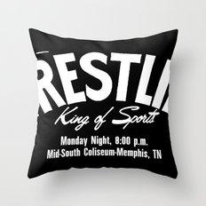 B&W Wrestling Logo Throw Pillow