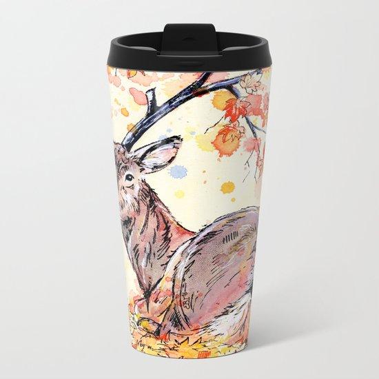 Amber Metal Travel Mug