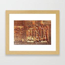 Egyptian Thoth Horus Hieroglyph Pyramid Framed Art Print