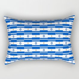 Mix of flag : Israel and Argentina Rectangular Pillow