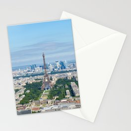 Paris aerial high resolution cityscape from Eiffel Tower to Grand Palais Stationery Cards