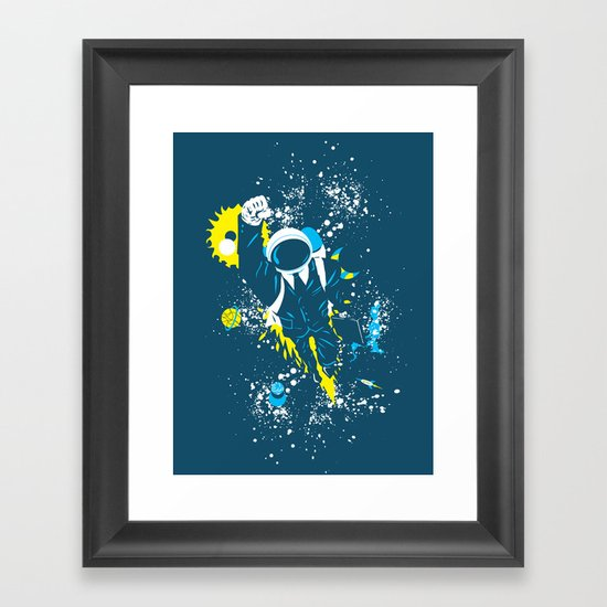 space suit Framed Art Print