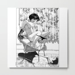 asc 518 - L'immobilisation (The entrapment) Metal Print