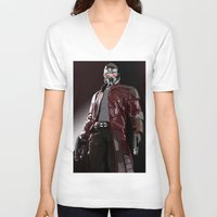 star lord V-neck T-shirts featuring Star Lord Fan Art by Vito Fabrizio Brugnola