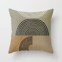 Natural Geometry X Throw Pillow