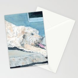Stretching Cream Labradoodle Stationery Cards